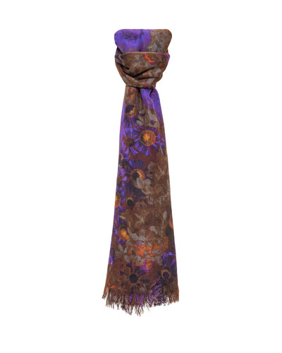 Enchanted Floral-Print Cashmere-Blend Scarf