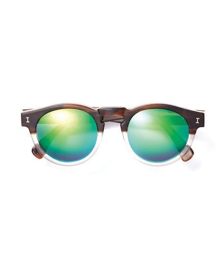 Leonard Half-and-Half Mirror Sunglasses