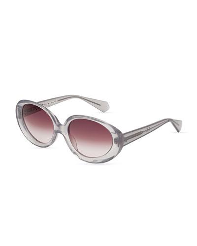 Ines Translucent Sunglasses, Amarena (Lilac)