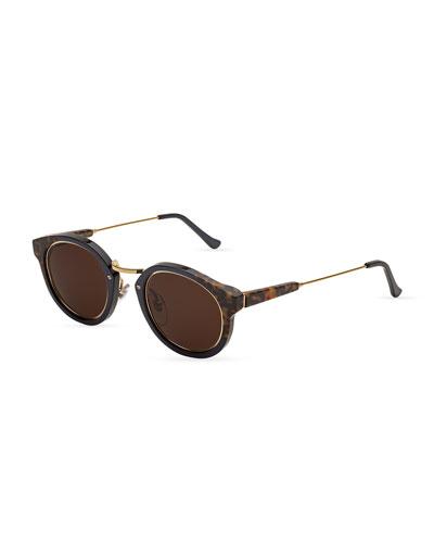 Panama Round Sunglasses, Costiera (Tortoise)