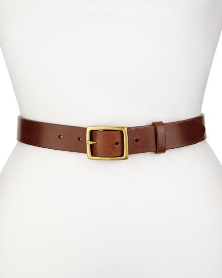Boyfriend Leather Belt, Brown