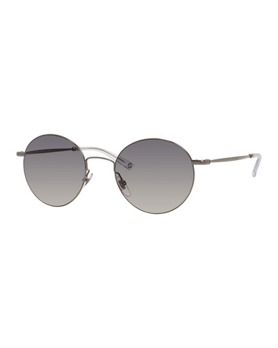 Wire-Rim Round Sunglasses