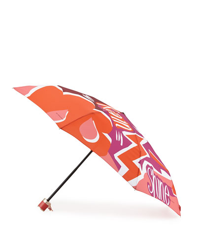 Trafalgar Check Folding Umbrella