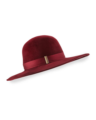 Kyleigh Hand-Blocked Wide-Brim Hat