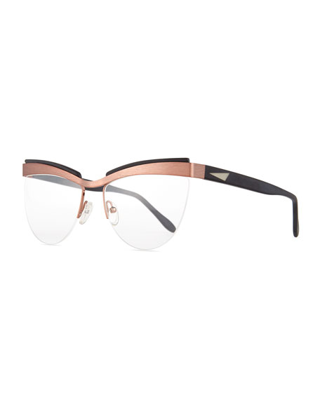 Prism Buenos Aires Semi-Rimless Fashion Glasses, Rose Gold