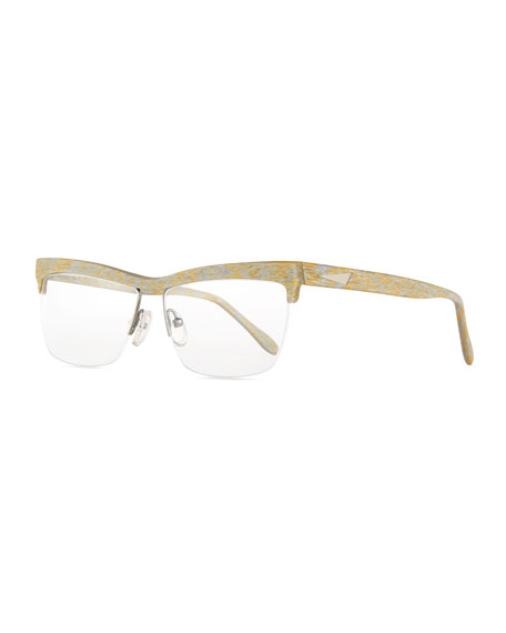 Prism Oslo Square Semi-Rimless Fashion Glasses, Gold