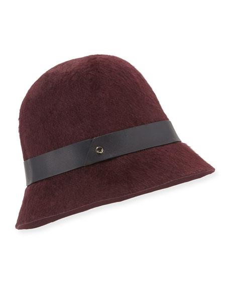 Rabbit Hair Cloche Hat, Wine