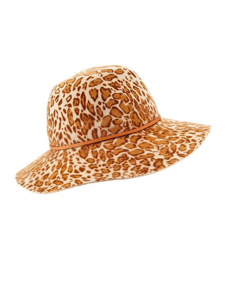 Helen KaminskiFifika Printed Felt Hat, Leopard
