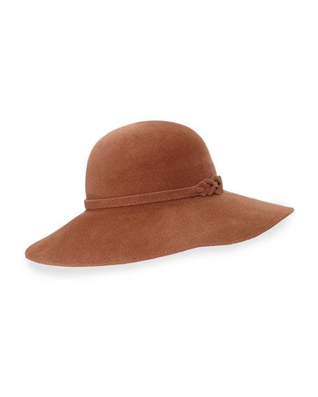 Ophelia Floppy Felt Hat, Mink