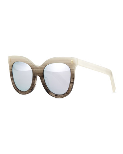 Holly Cat-Eye Sunglasses, Pearl Ombre