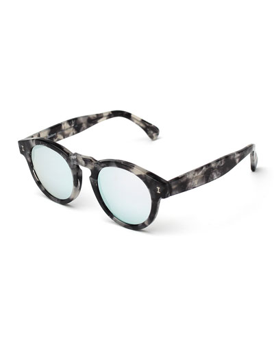 Leonard Round Sunglasses, Granite