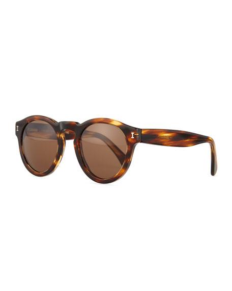 Illesteva Leonard Round Sunglasses, Sand