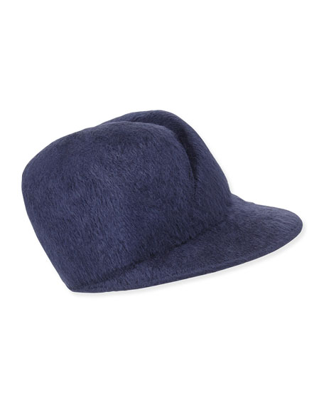 Gigi Burris Esther Felted Cap, Navy