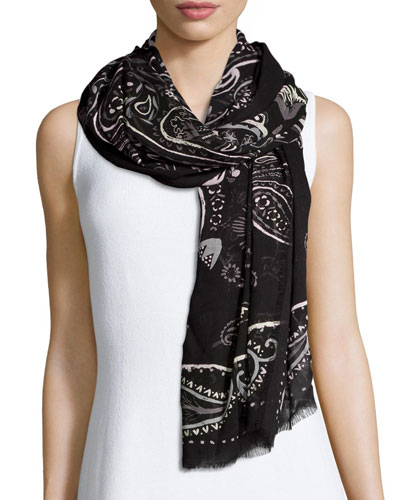 William Lightweight Paisley Scarf