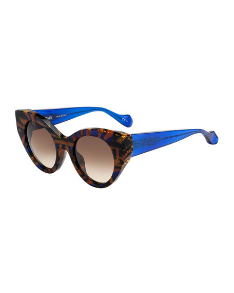 Blue And Yellow Sunglasses  fendi cat eye sunglasses blue yellow