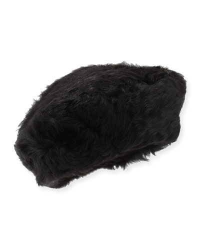 Lamb Shearling Fur Beret