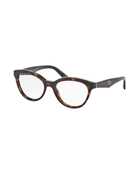 Cat-Eye Contrast-Arm Fashion Glasses