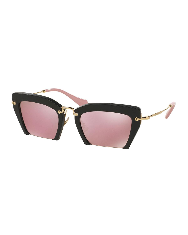 84ae0ca37a86 Miu Miu Cut-Off Cat-Eye Sunglasses