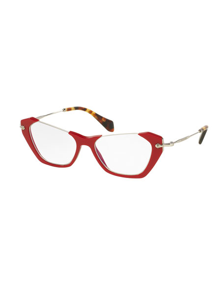 Cut-Top Cat-Eye Fashion Glasses