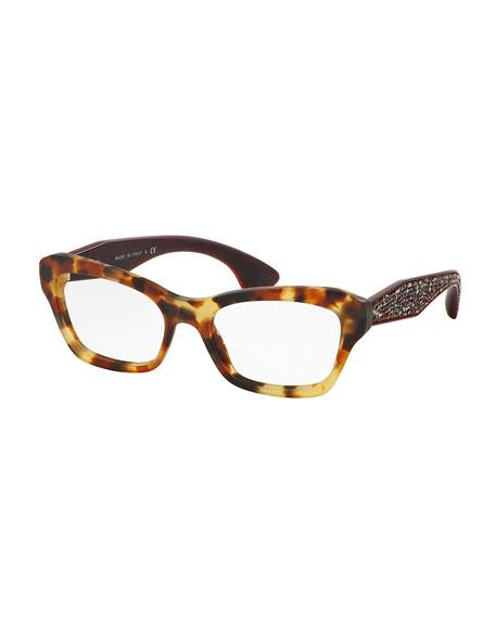 Crystal-Temple Acetate Fashion Glasses
