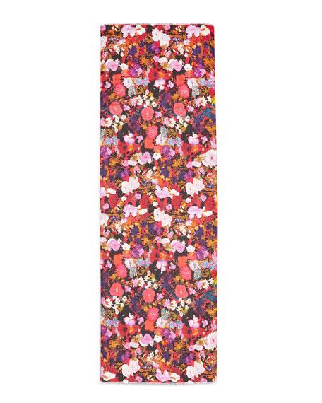 St. Piece Ceres Floral-Print Scarf, Black