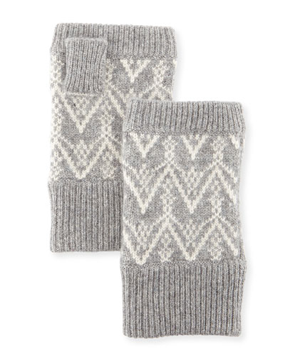 Fair Isle Cashmere Fingerless Gloves