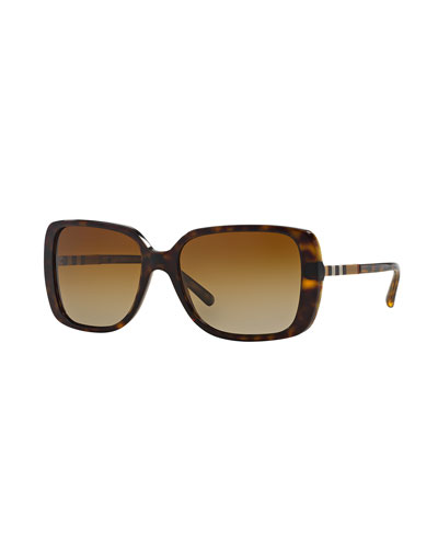 Check-Temple Square Sunglasses, Tortoise