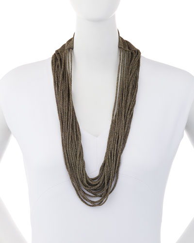 Sparkle Knit Scarf Necklace