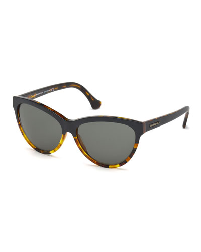 Dual-Color Cat-Eye Sunglasses