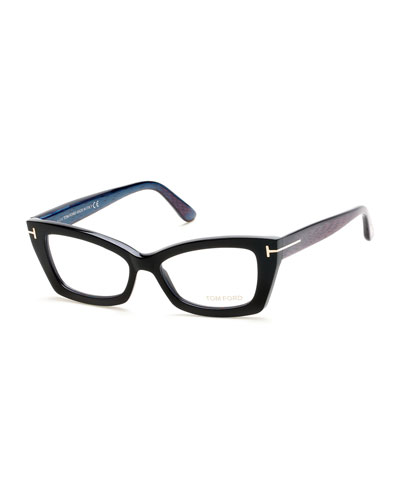 Cat-Eye Fashion Glasses, Black