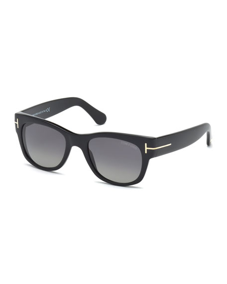 TOM FORD Cary Polarized Sunglasses, Black