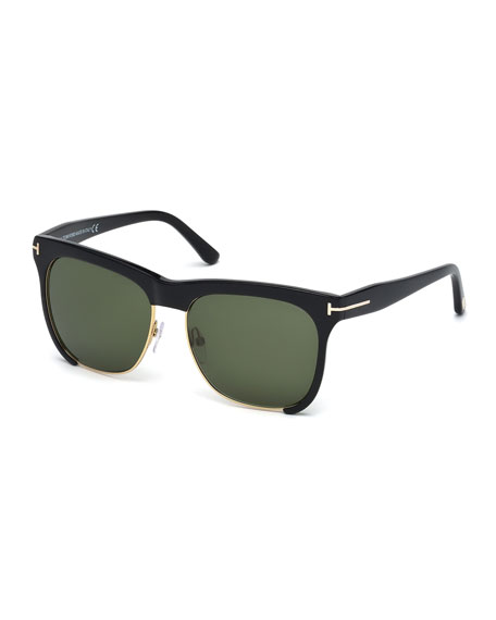 TOM FORD Thea Dual-Rimmed Sunglasses, Black