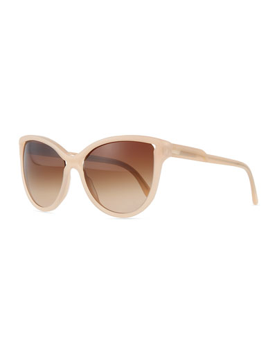 Cat-Eye Two-Tone Sunglasses