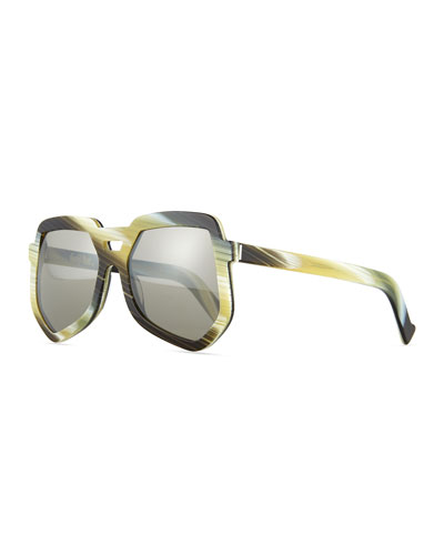 Clip Large Aviator Sunglasses