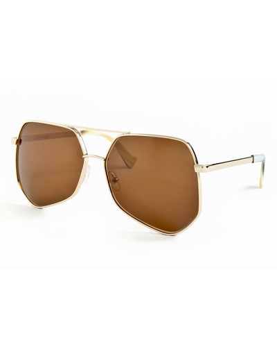 Megalast Large Aviator Sunglasses