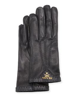 Napa Leather Gloves, Black