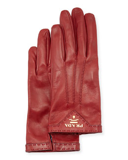 Napa Leather Gloves, Ruby