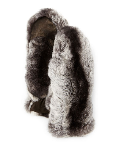 Rabbit Fur & Lambskin Mittens