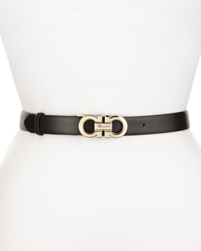 Ceylon Pebbled Leather Belt, Black