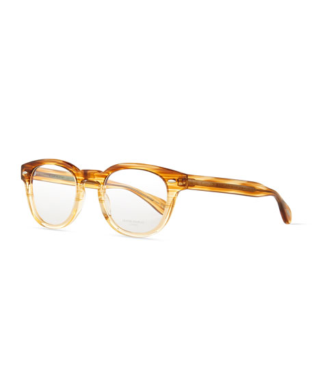 Oliver Peoples Sheldrake Streaked Fashion Glasses, Oak, Women's