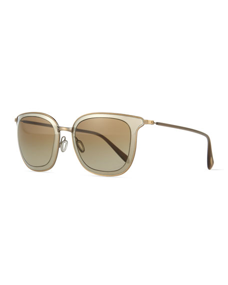 Oliver Peoples Annetta Butterfly Sunglasses, Pewter