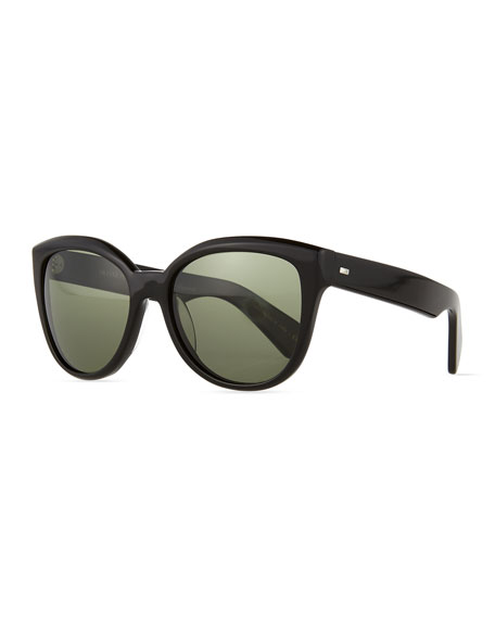 Polarized Cat Eye Sunglasses  oliver peoples abrie plastic polarized cat eye sunglasses black