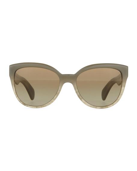 Abrie Plastic Cat-Eye Sunglasses