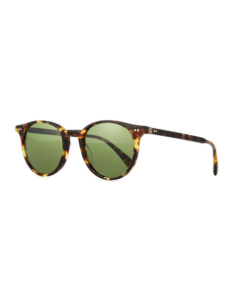 Oliver Peoples Delray Sun 48 Round Sunglasses, Tortoise