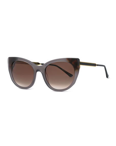 Thierry Lasry Bunny Cat-Eye Sunglasses, Gray
