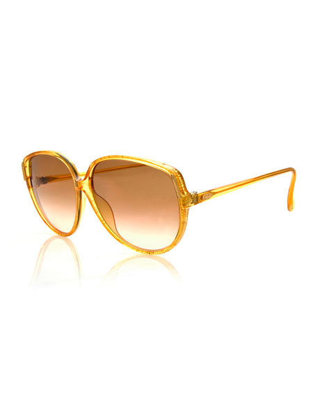 Christian Dior Vintage Flat-Top Sunglasses, Yellow