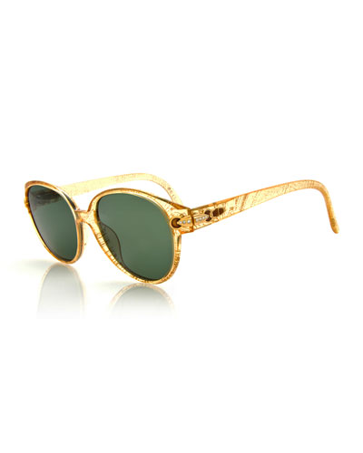 Vintage Rounded Sunglasses, Yellow