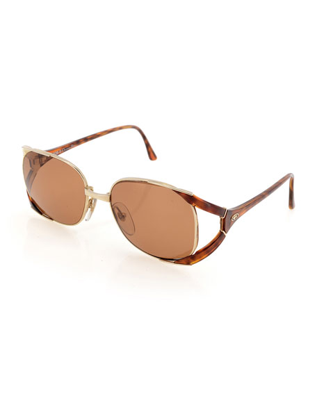 Christian Dior Vintage Oval Sunglasses, Gold