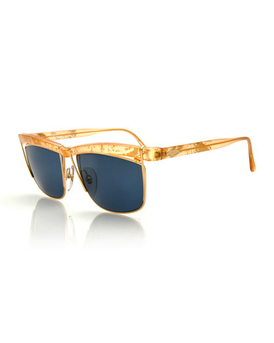 Vintage Oversized Sunglasses, Gold