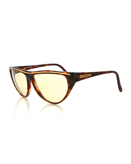flat top sunglasses j3wh  GucciVintage Flat-Top Sunglasses, Tortoise